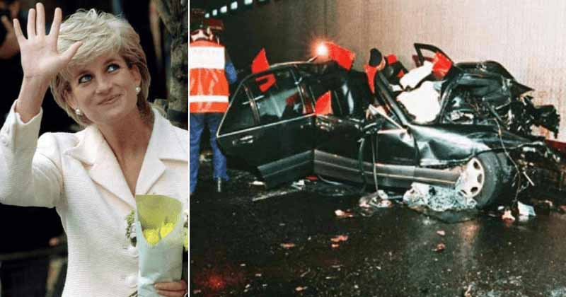 Accidented car of Lady Di and Dodi on the tragic night