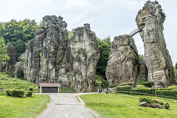 Externsteine of the Teutoburg Forest
