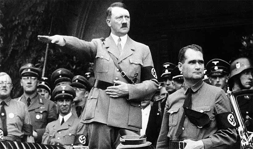 Rudolf Hess and Adolf Hitler